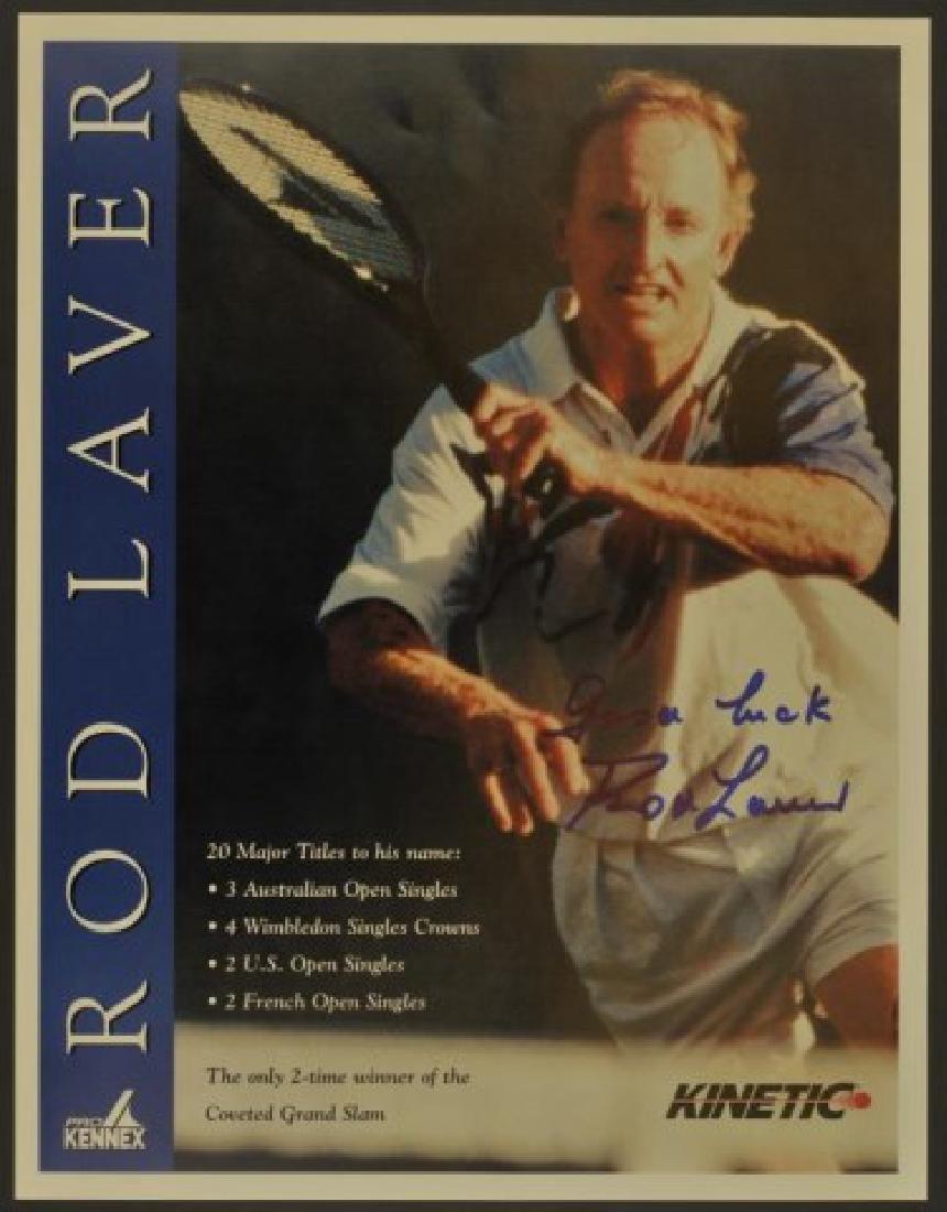 Signed Rod Laver Photo