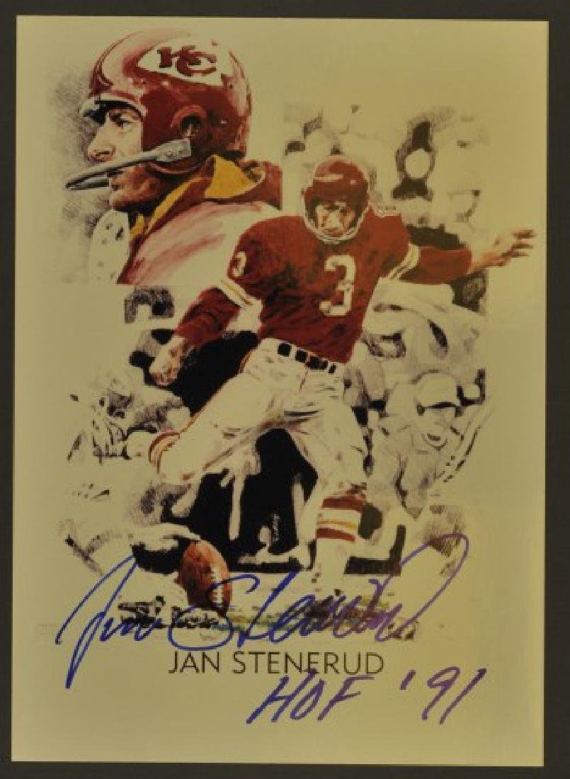 Signed Jan Stenerud Photo HOF 1991