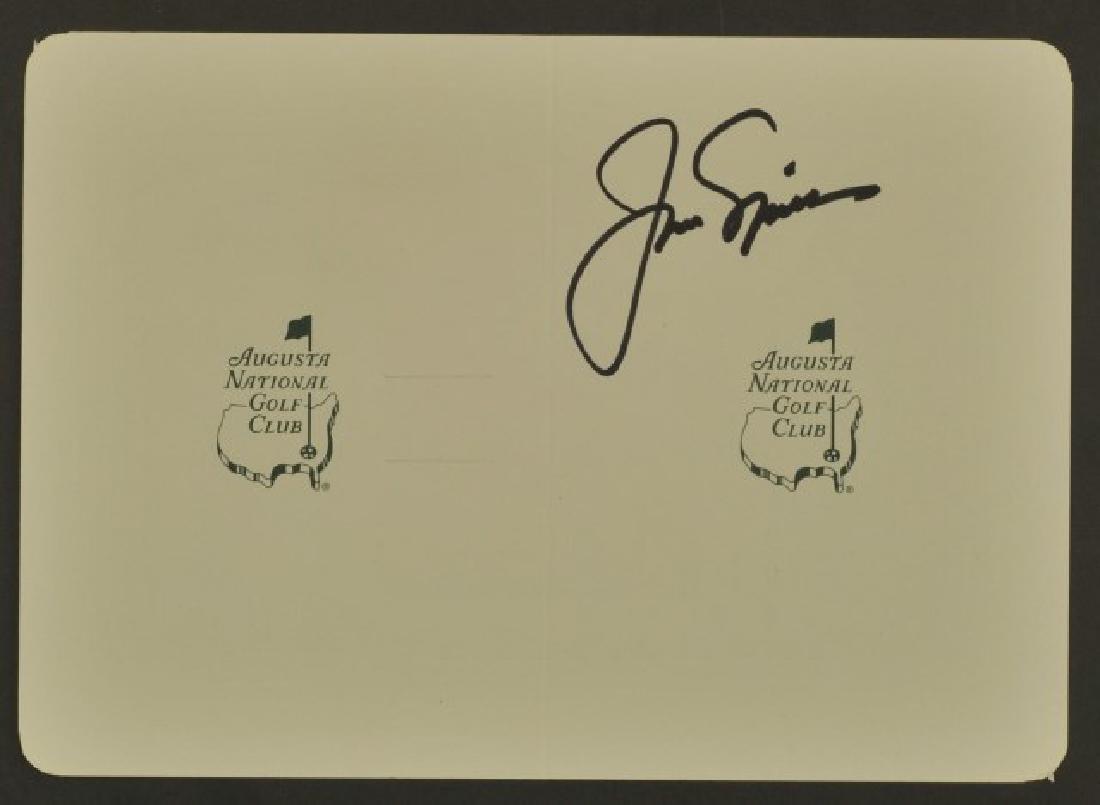 Signed Jack Nicklaus Scorecard