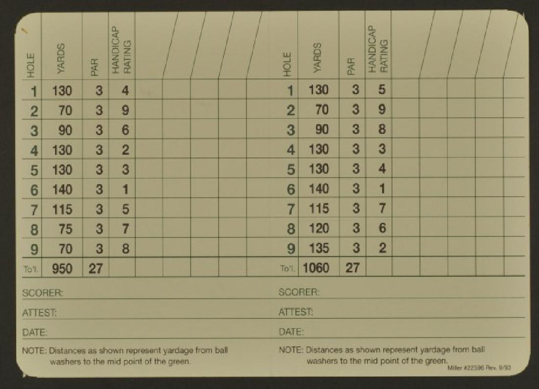 Signed Jack Nicklaus Scorecard - 2