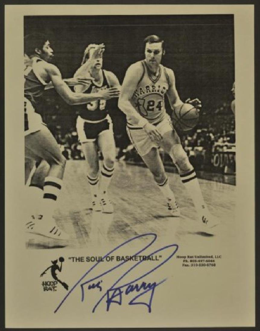 Signed Rick Barry Photo
