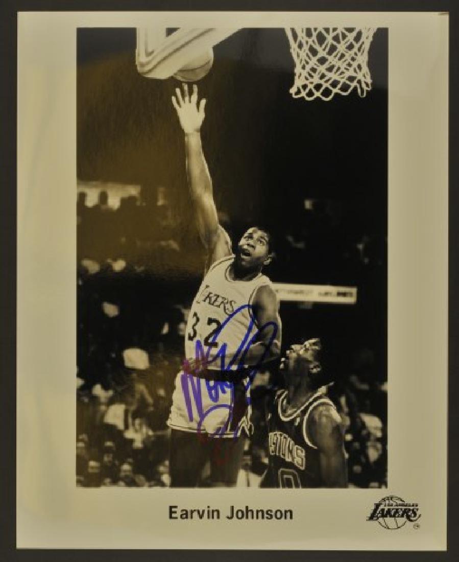 Signed Magic Johnson Photo