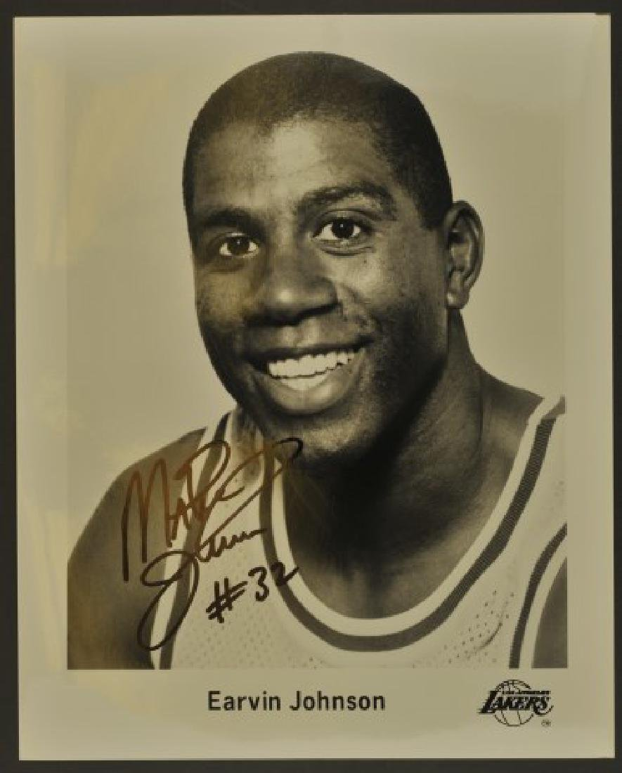 Signed Magic Johnson Photo