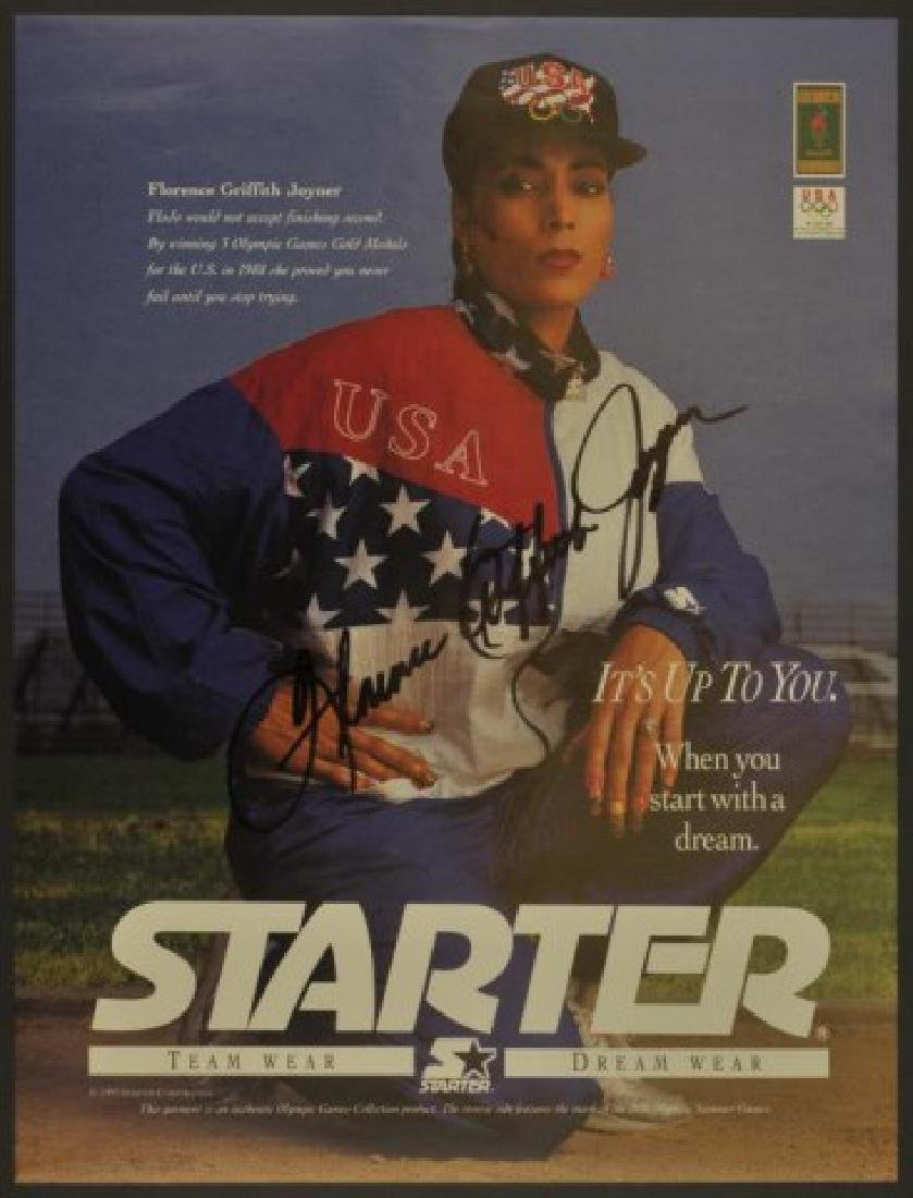 Signed Florence Griffith Joyner Photo