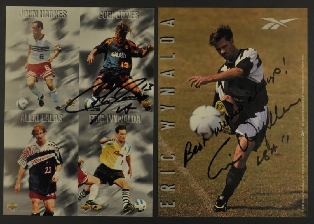 Three Soccer & One Runner Autographs