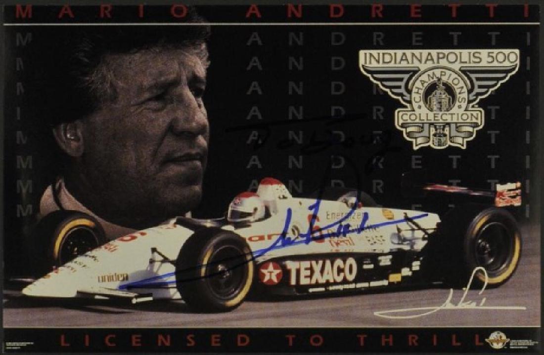 Signed Mario Andretti Card
