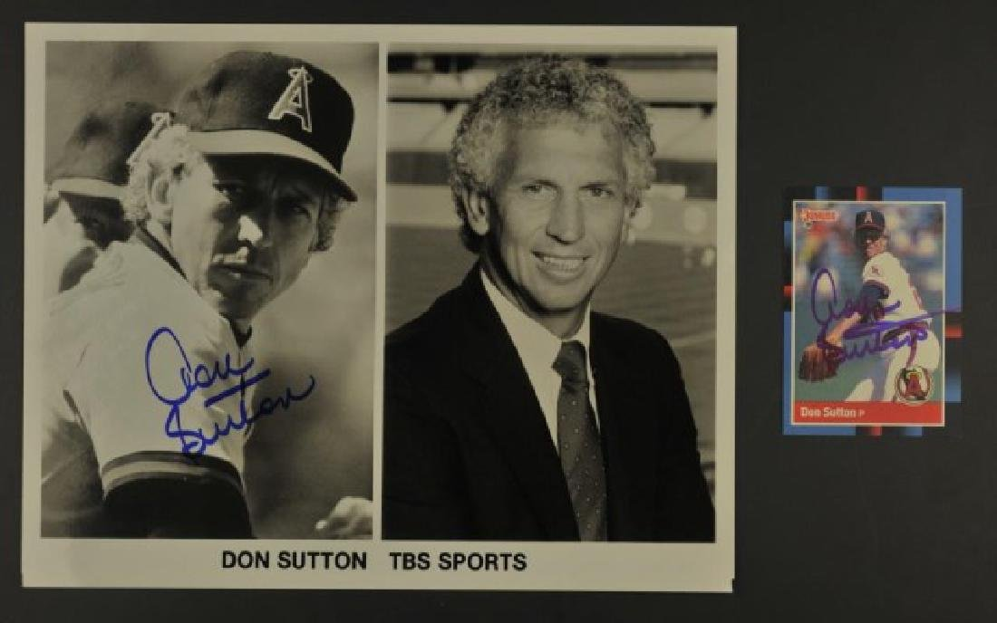 Signed Don Sutton Photo & Card