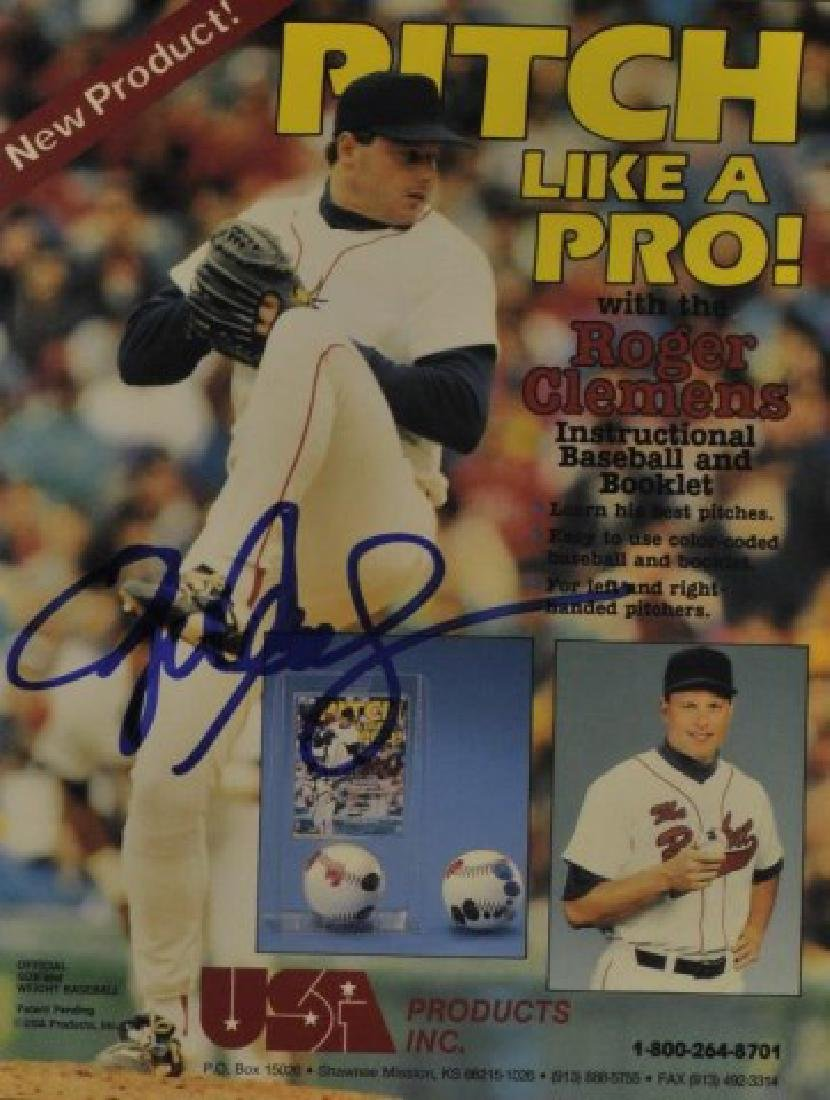 Signed Roger Clemens Photo
