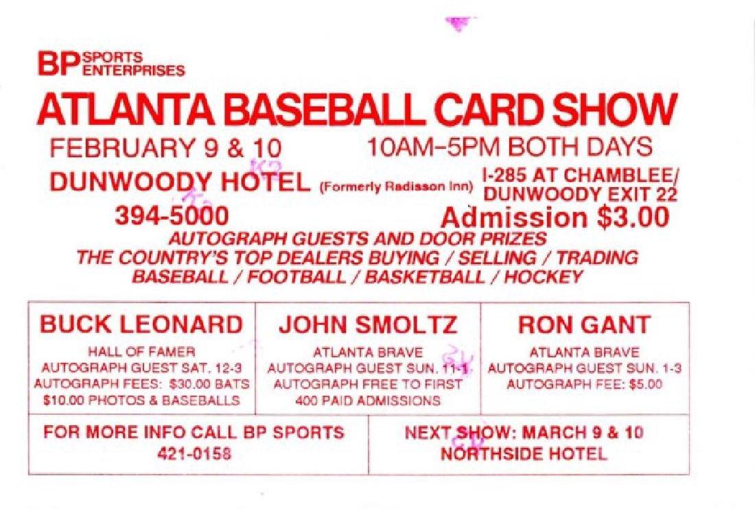 Signed John Smoltz Photo w/ Game Ticket - 3
