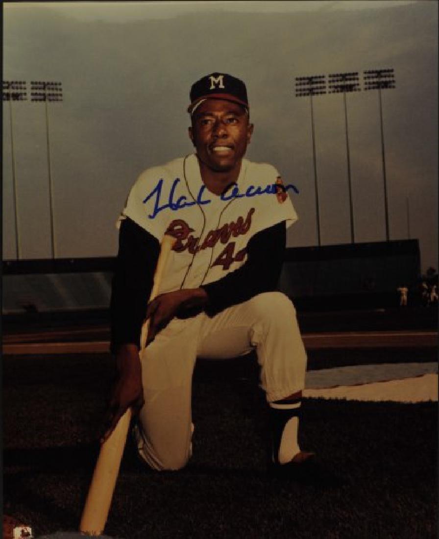 Signed Hank Aaron Photo