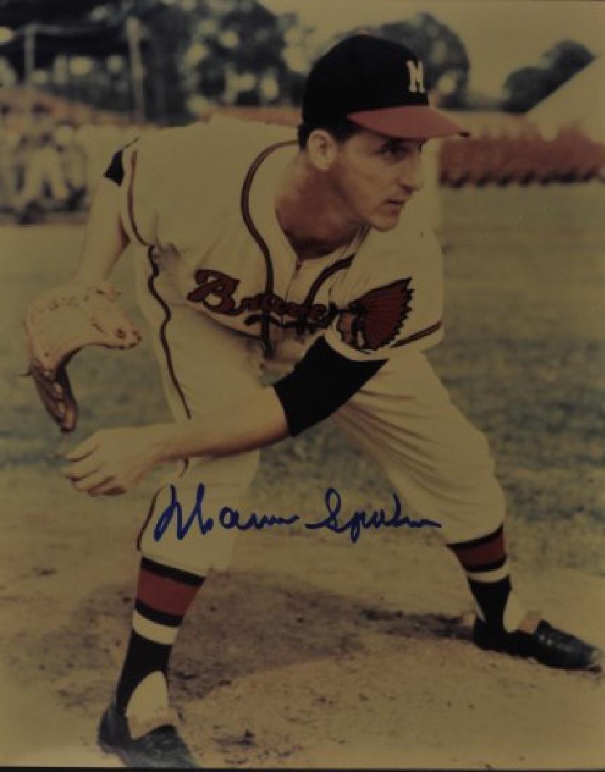 Signed Warren Spahn Photo