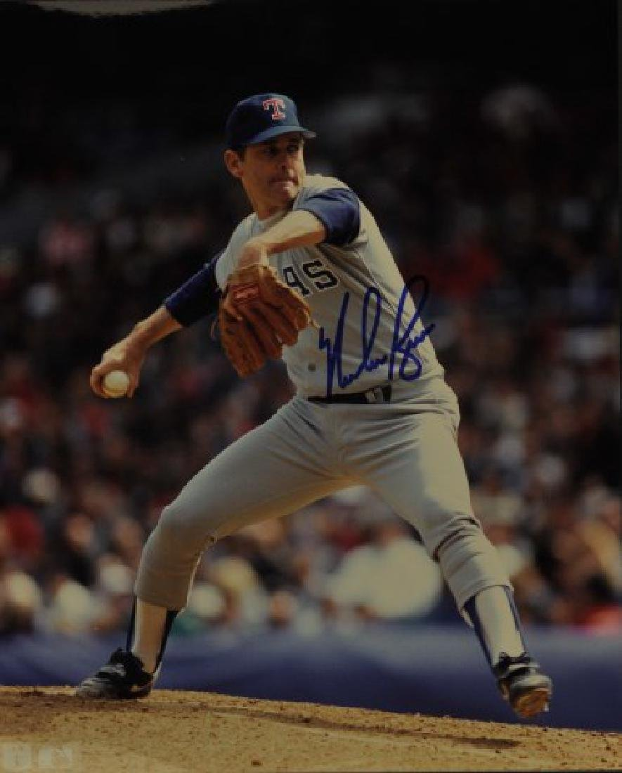 Signed Nolan Ryan Photo