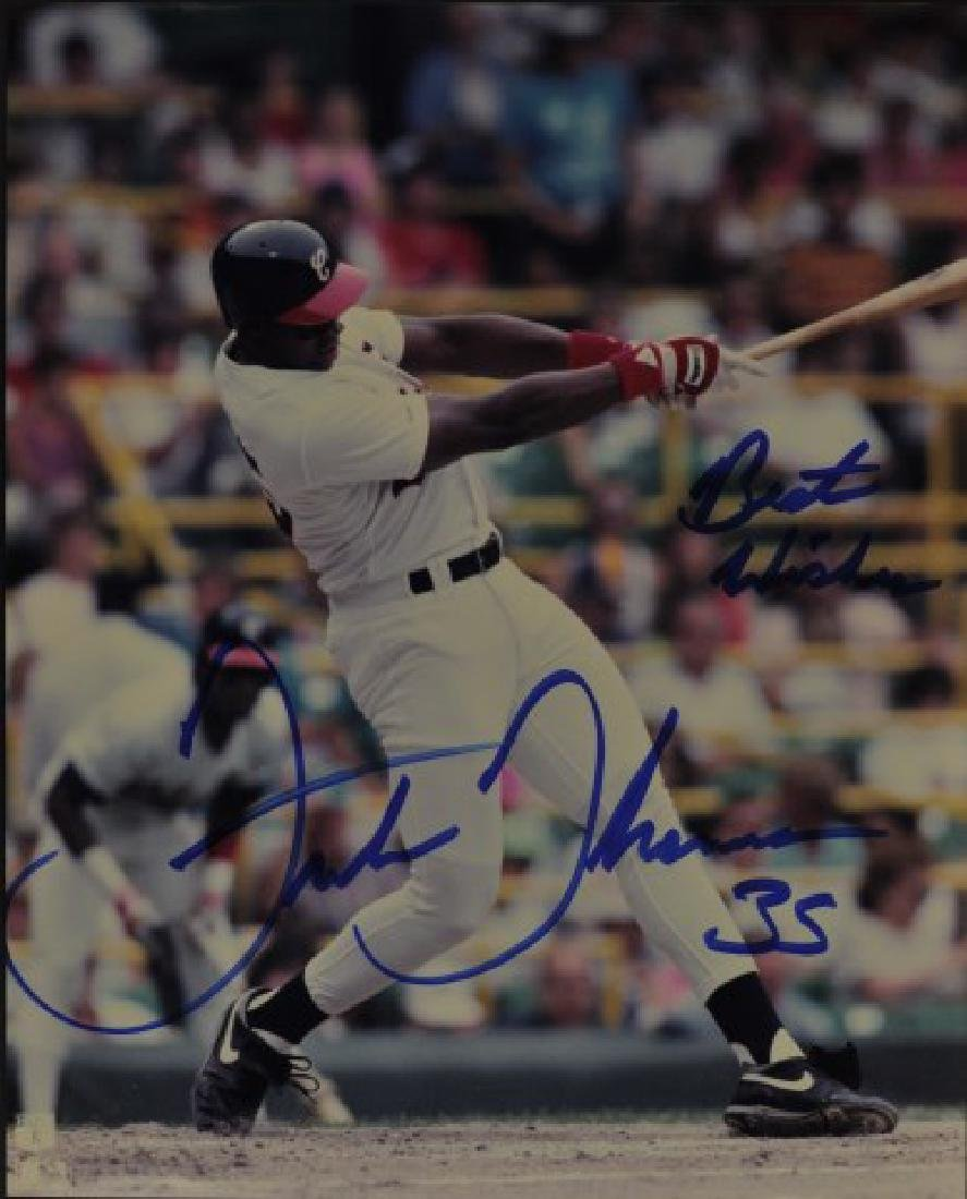 Signed Frank Thomas Photo