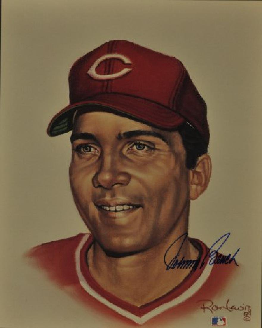 Signed Johnny Bench Print