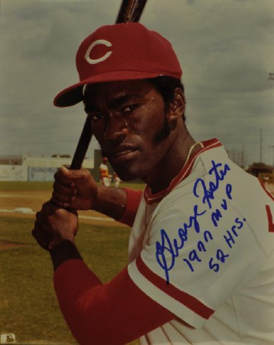 Signed George Foster 1977 MVP Photo
