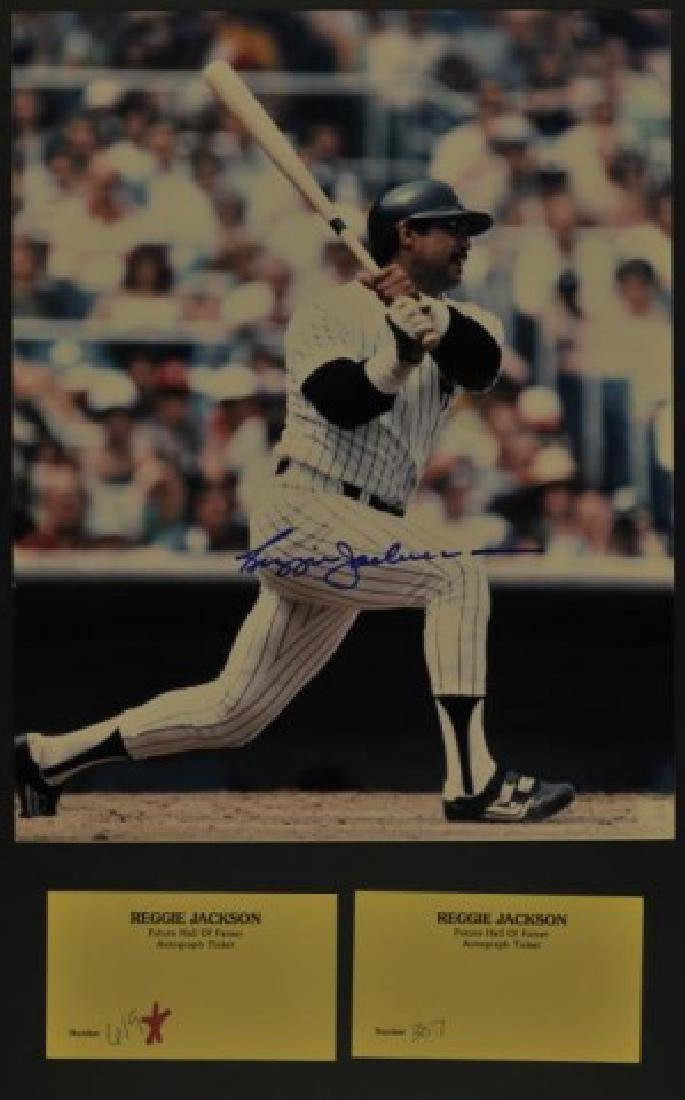 Signed Reggie Jackson Photo