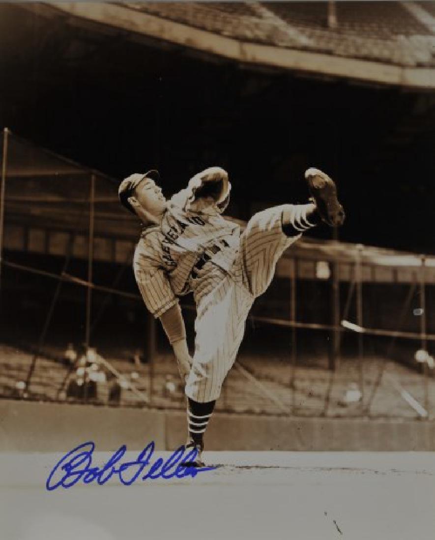 Signed Bob Feller Photo
