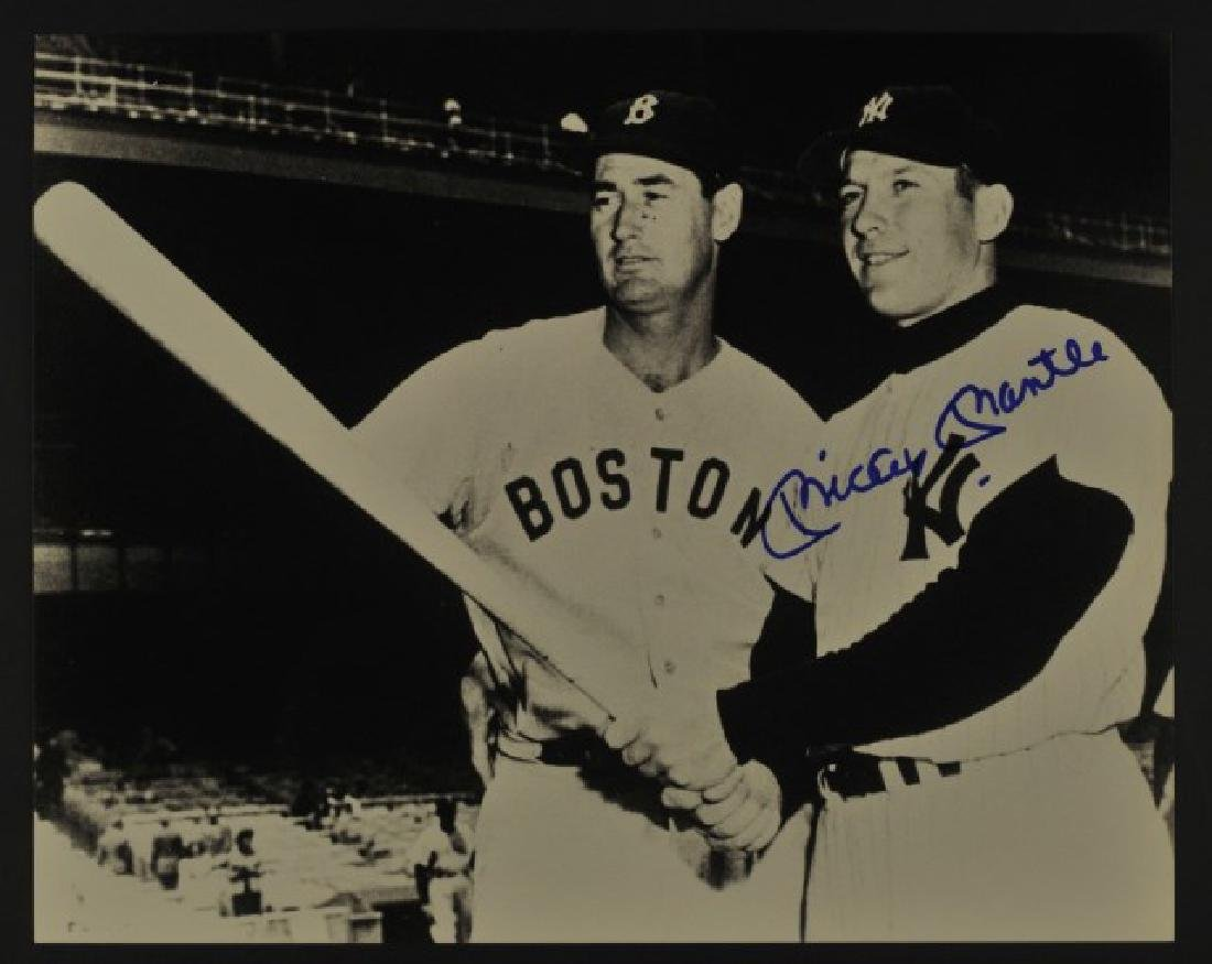 Signed Mickey Mantle & Ted Williams Photo