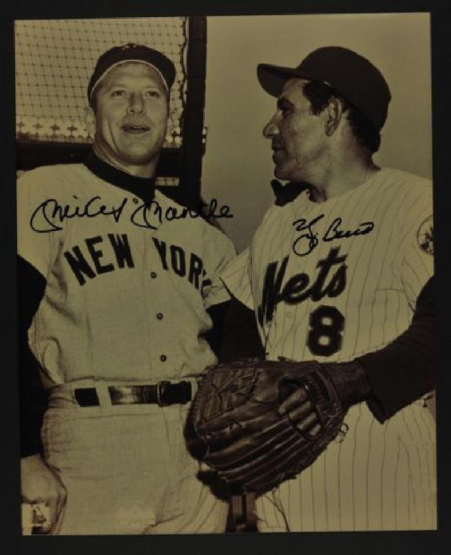 Signed Mickey Mantle &  Yogi Berra Photo