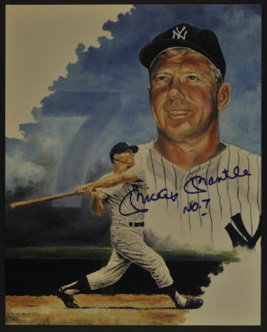 Signed Mickey Mantle No. 7 Photo