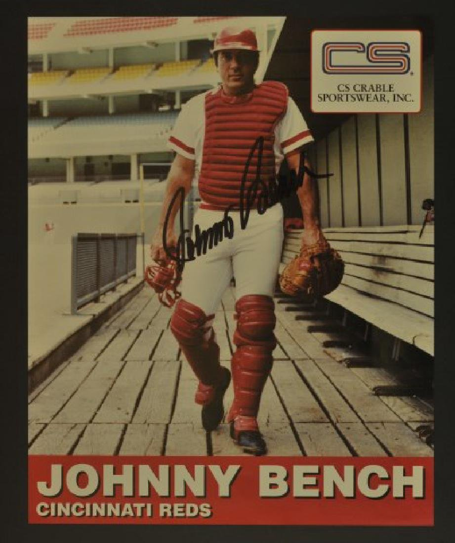 Signed Johnny Bench Photo