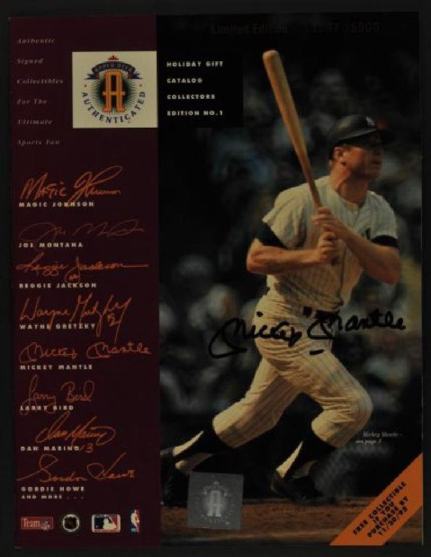 Signed Mickey Mantle Upper Deck Catalog