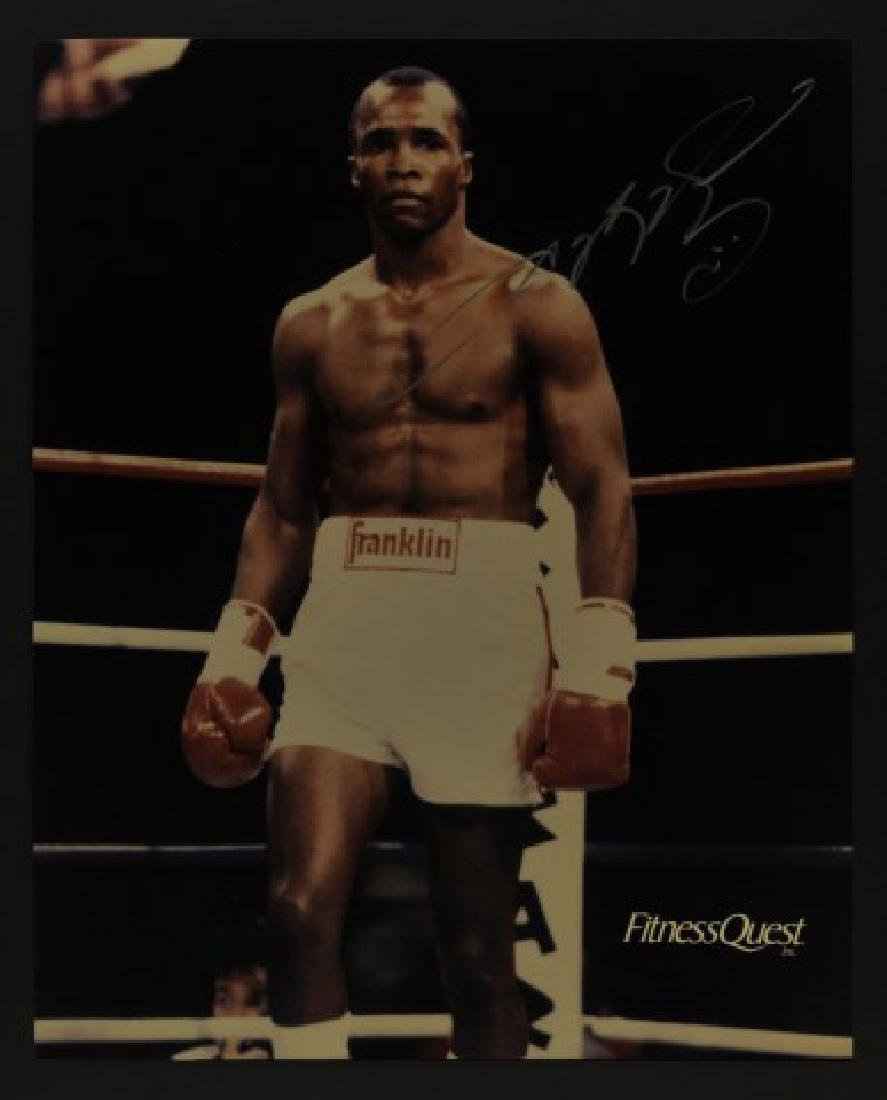 8x10 Signed Sugar Ray Leonard Photo