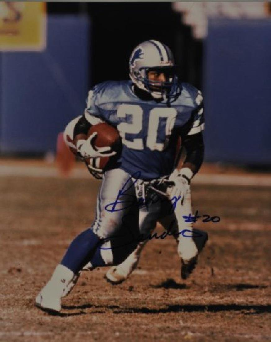 Signed Barry Sanders Photo