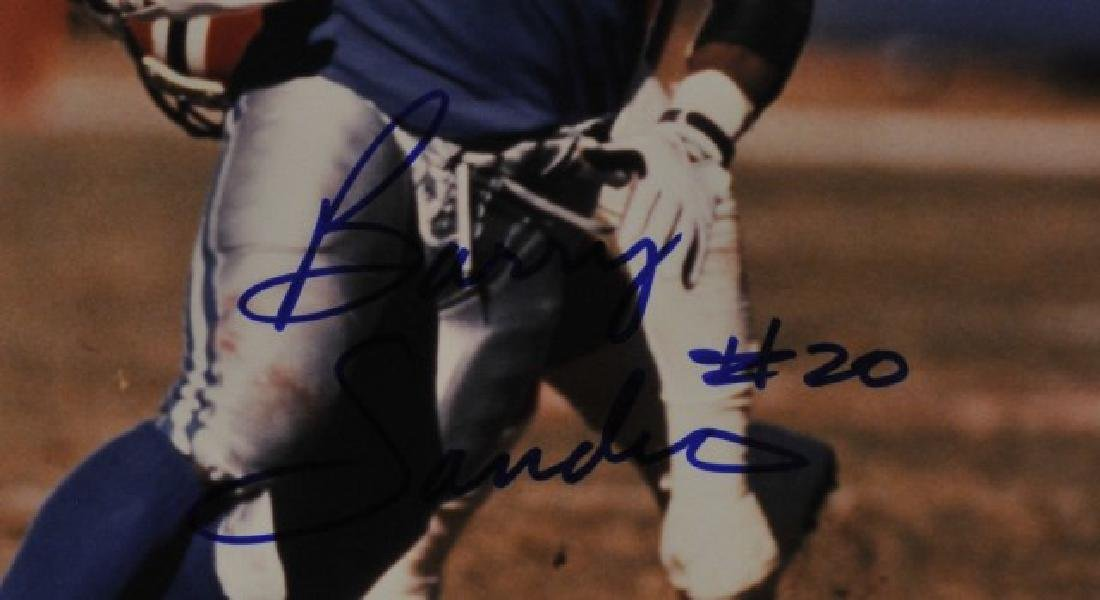Signed Barry Sanders Photo - 2