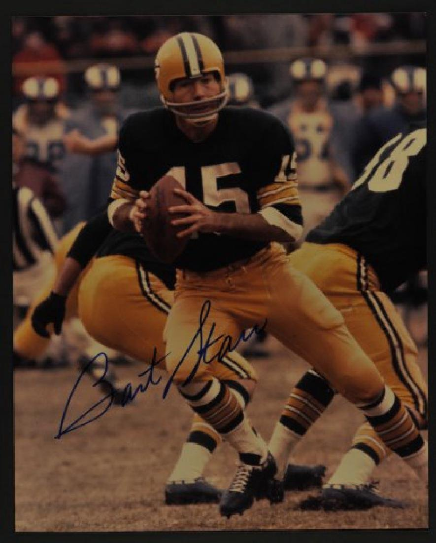 Signed Bart Starr Photo