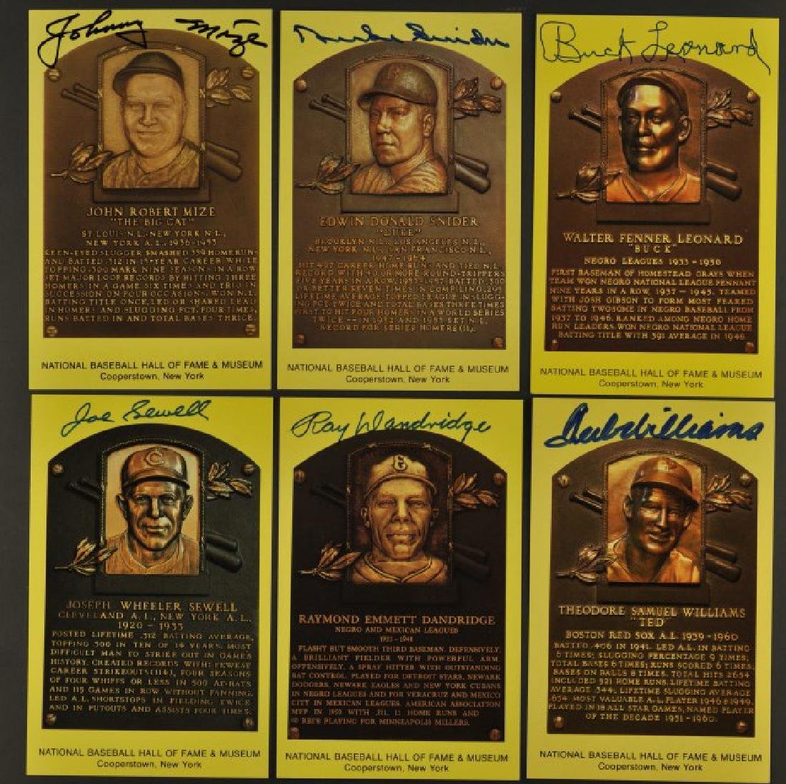 10 Signed Hall of Fame Cards