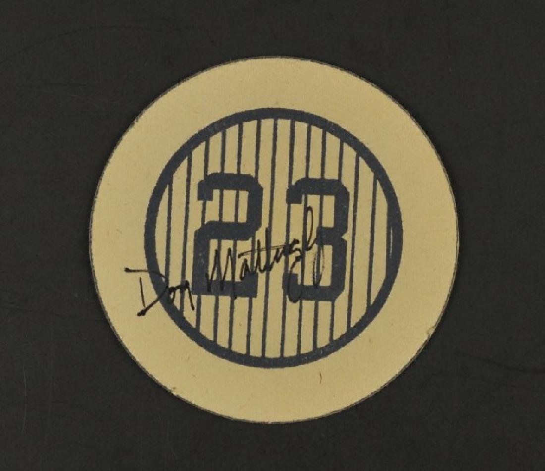 Signed Don Mattingly #23 Cardboard Coaster
