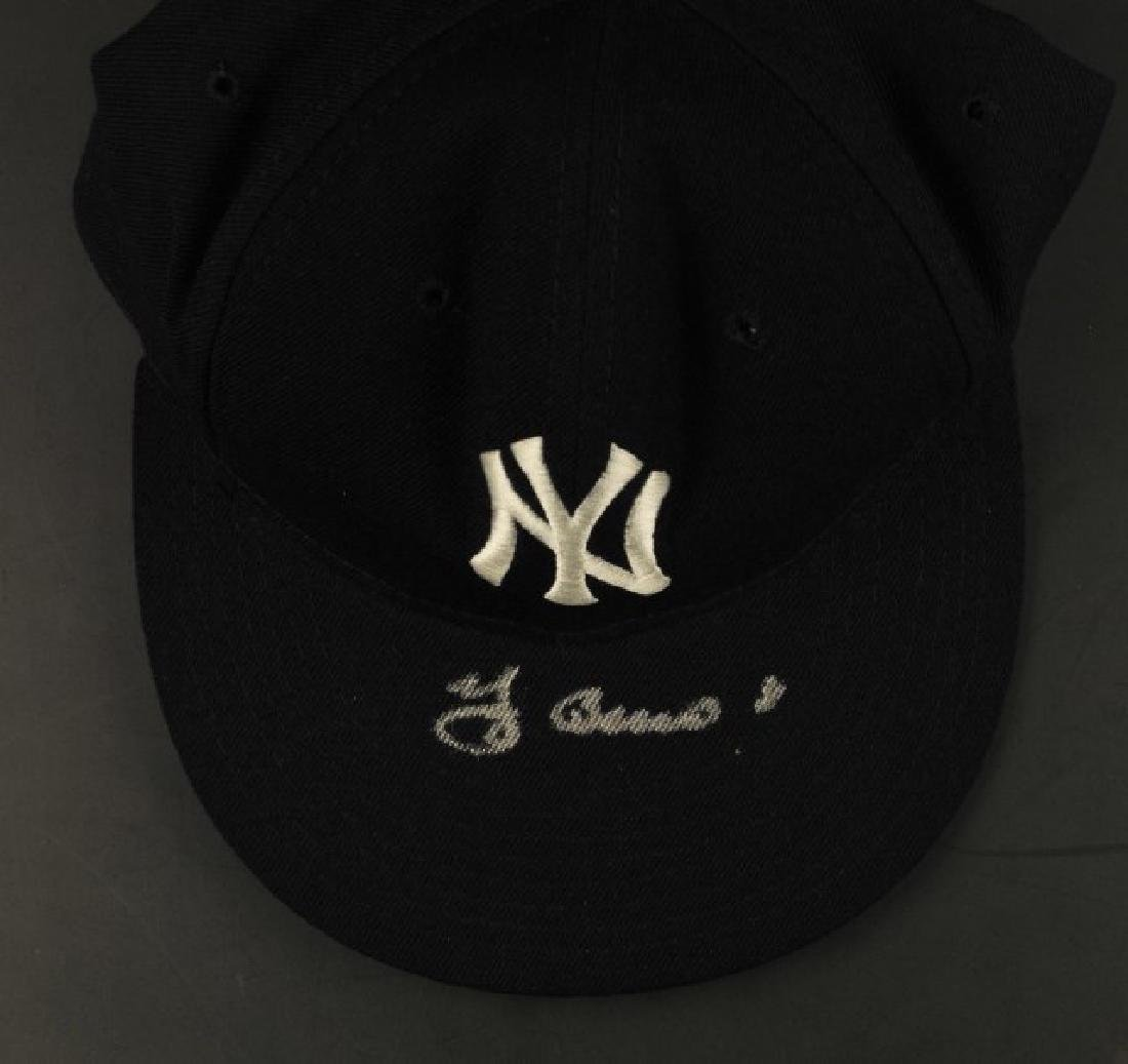Signed Yogi Berra Yankees Hat