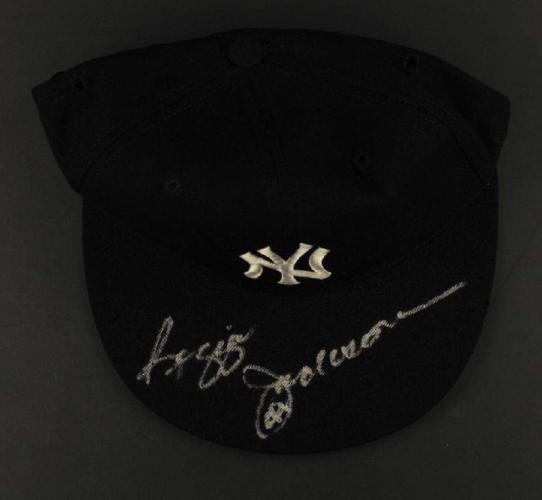 Signed Reggie Jackson NY Hat