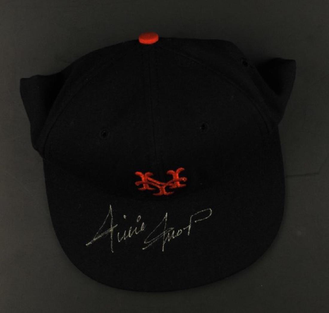 Signed Willie Mays NY Hat