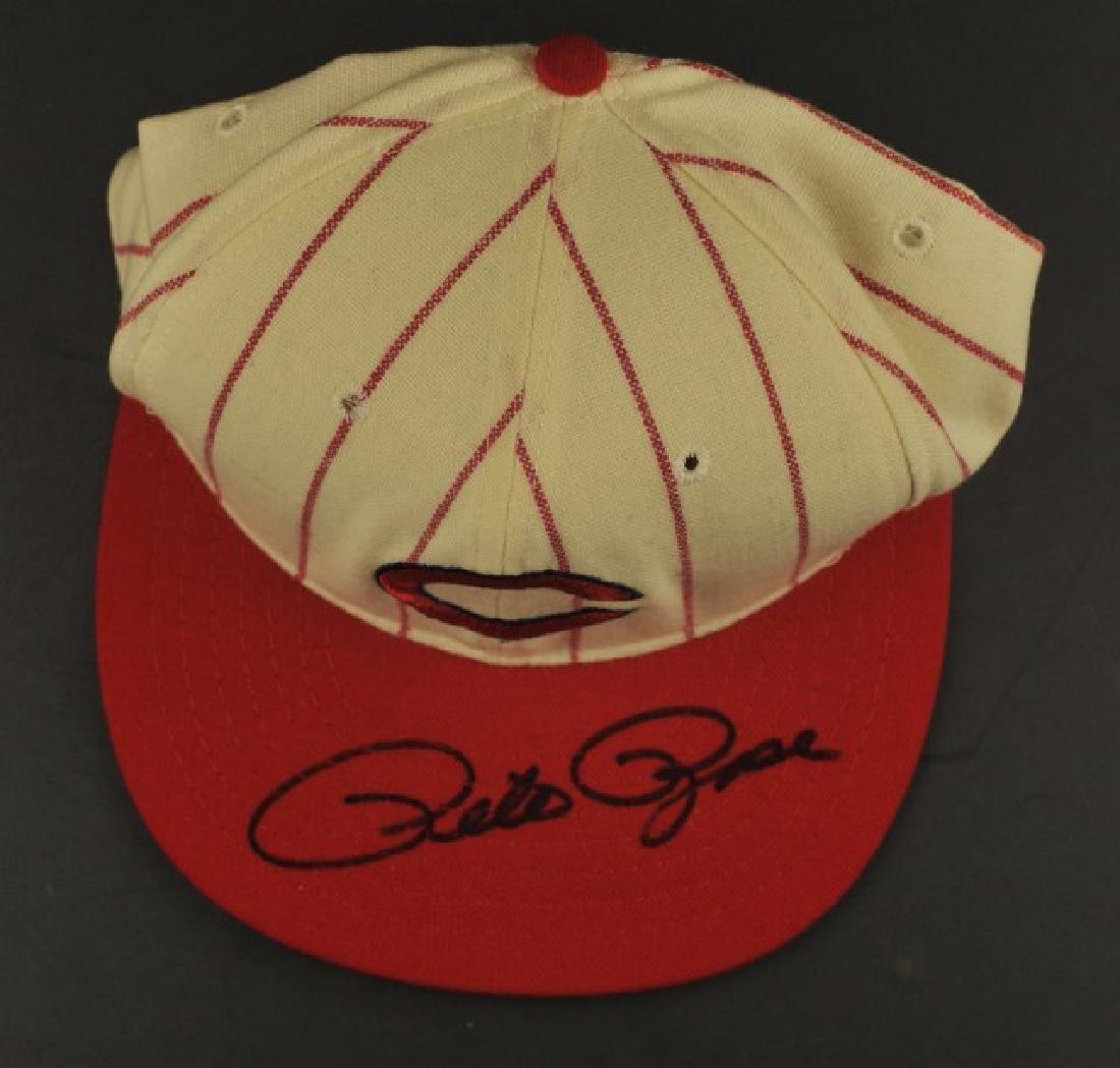 Signed Pete Rose Cincinnati Hat