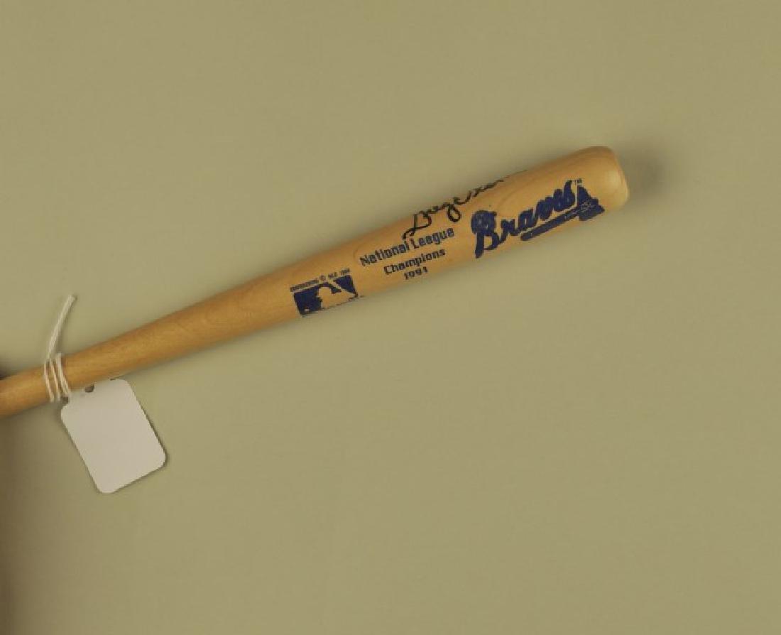 Signed Greg Olson Mini-Bat - 3