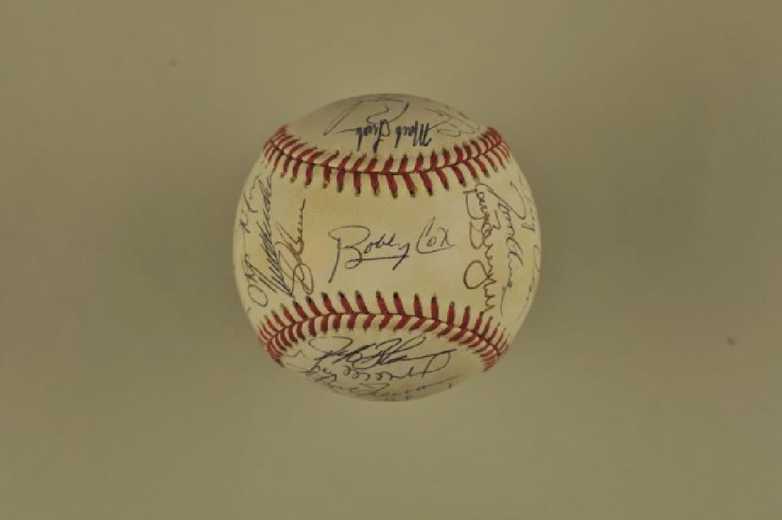 Signed 1993 Atlanta Braves Team Baseball - 2