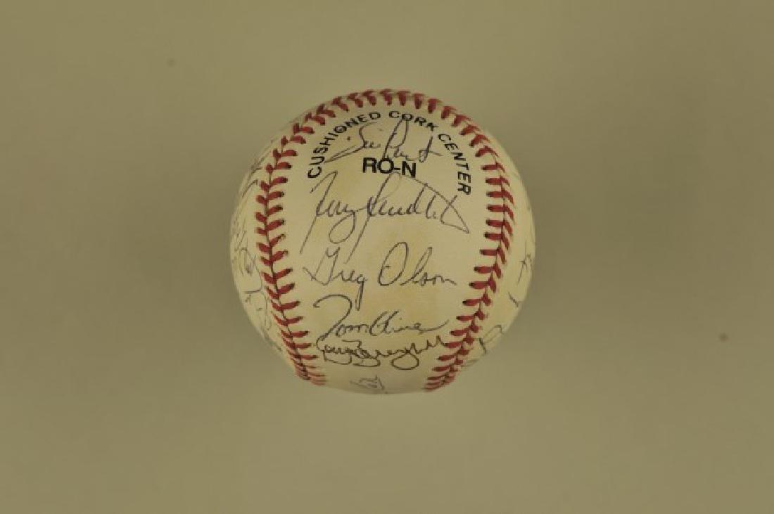 Signed 1993 Atlanta Braves Team Baseball - 3