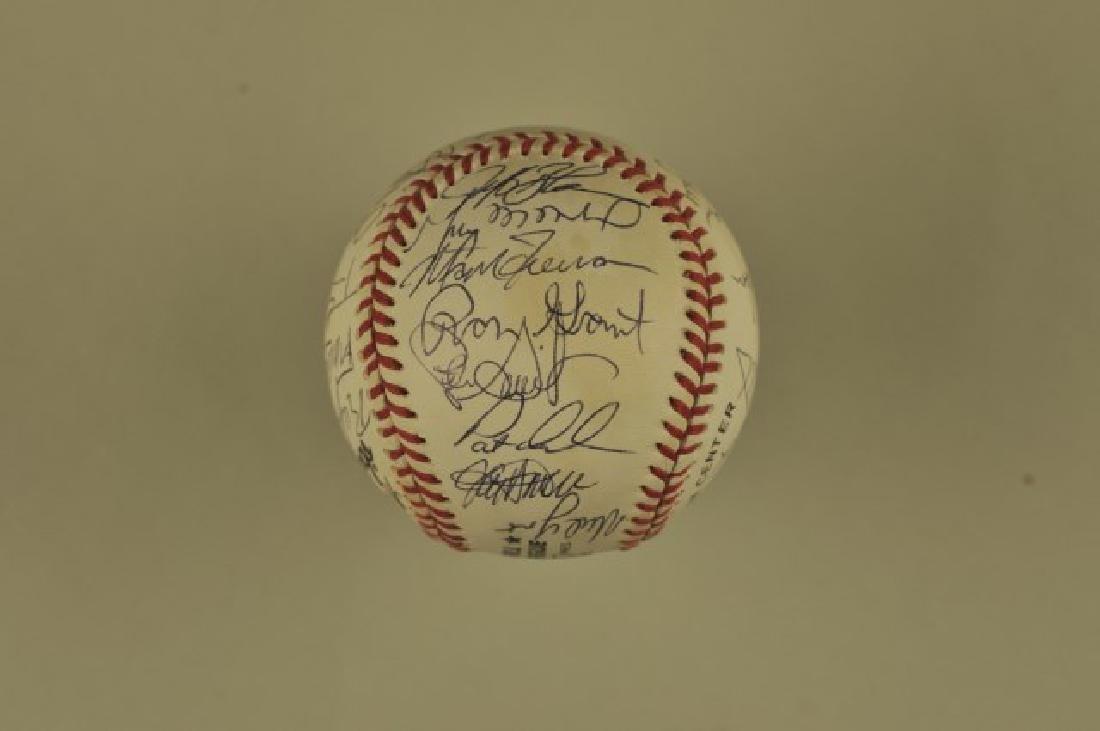 Signed 1993 Atlanta Braves Team Baseball - 4