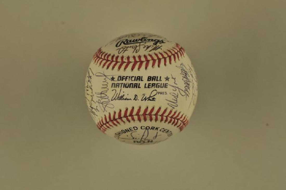 Signed 1993 Atlanta Braves Team Baseball - 5