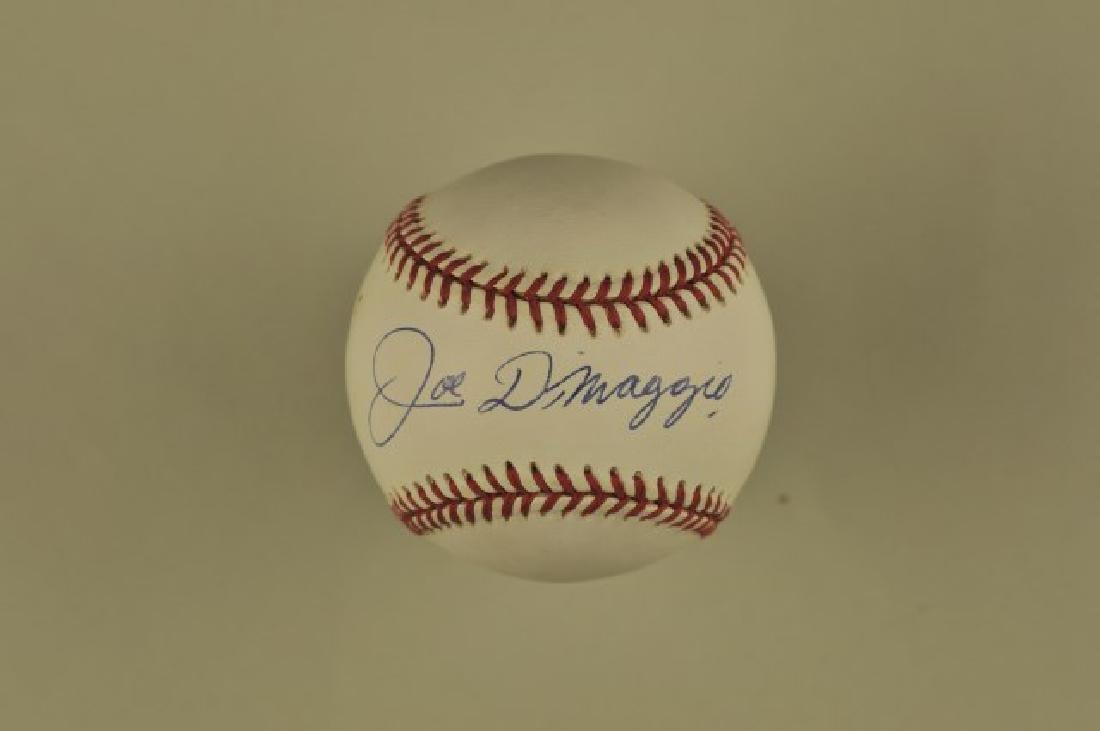 Signed Joe Dimaggio Baseball