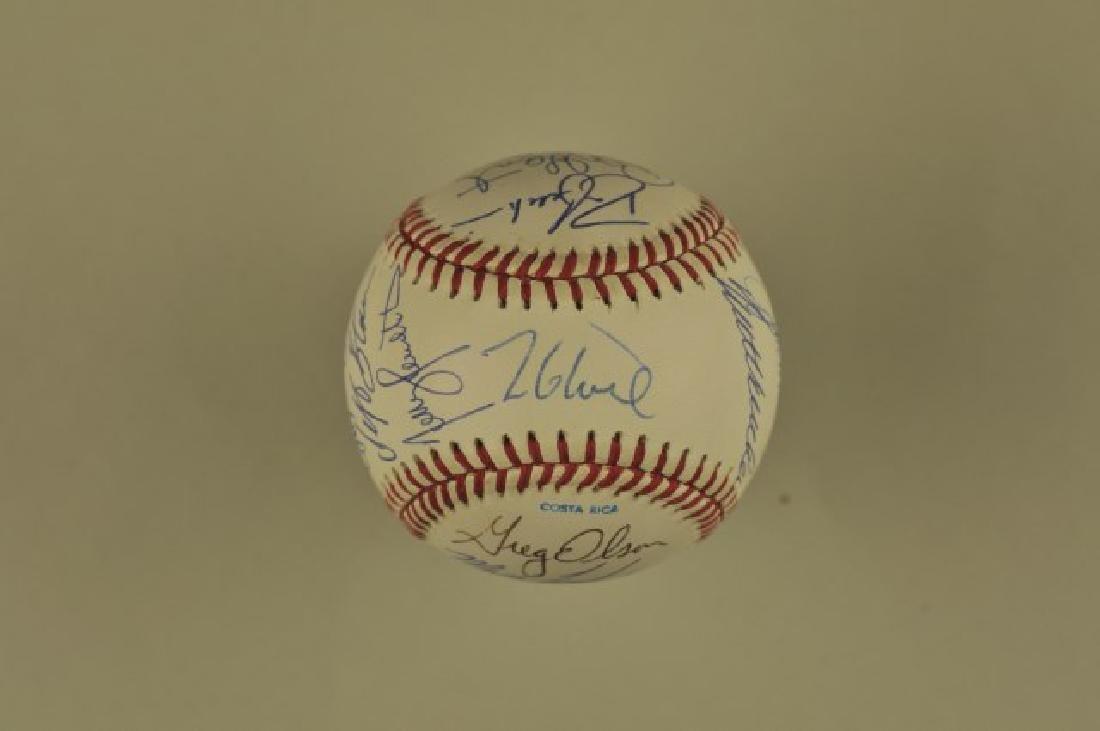 Signed '91 Atlanta Braves World Series Team Ball - 2