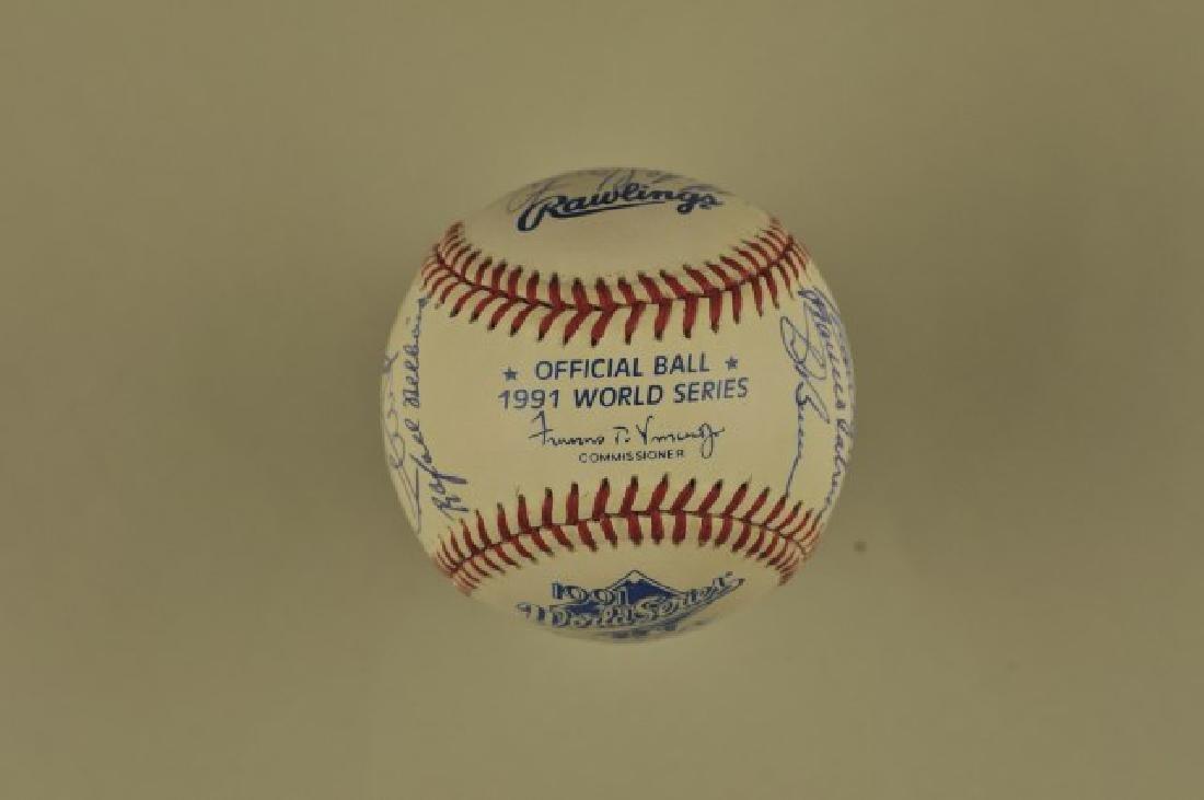 Signed '91 Atlanta Braves World Series Team Ball - 5