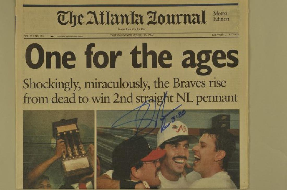 3 '92 Signed Sid Bream Atl Jrnls & Picture Cards