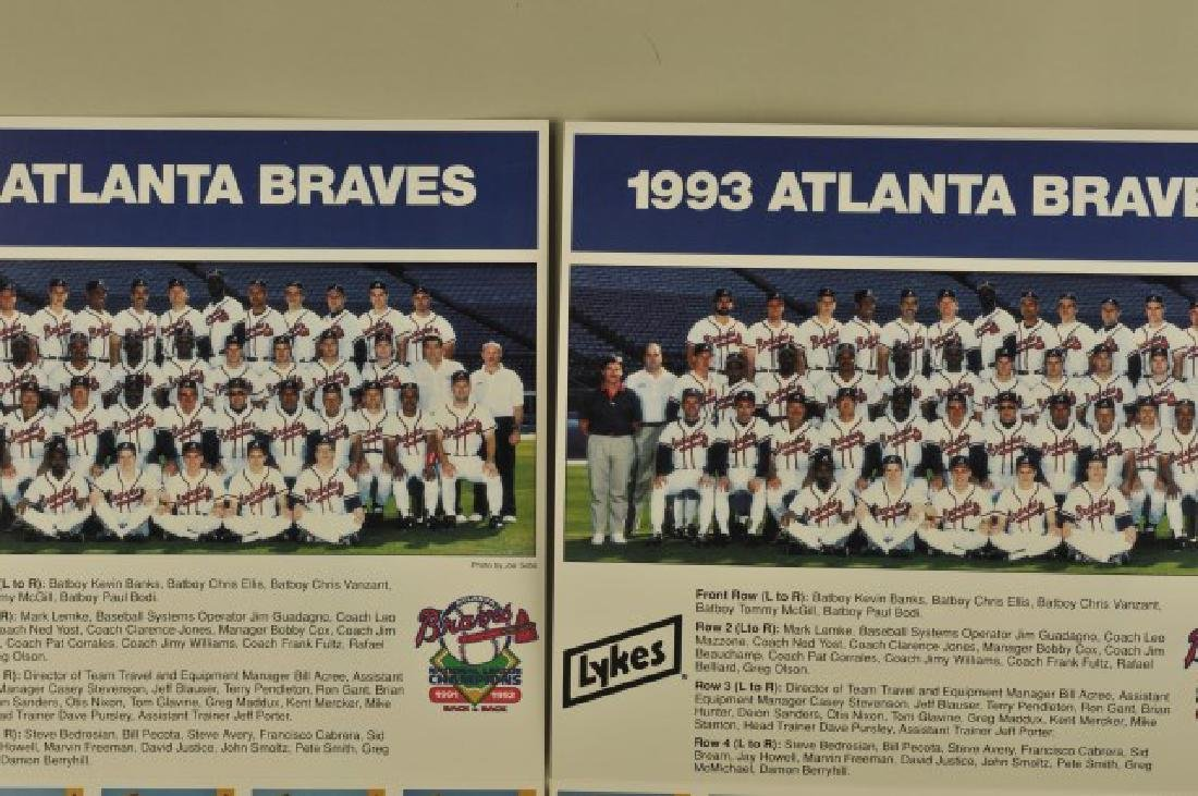 3 '92 Signed Sid Bream Atl Jrnls & Picture Cards - 4