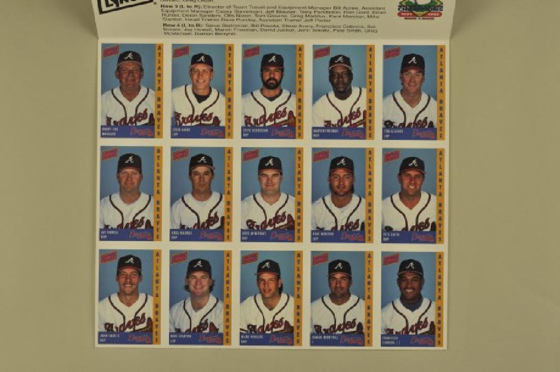 3 '92 Signed Sid Bream Atl Jrnls & Picture Cards - 6
