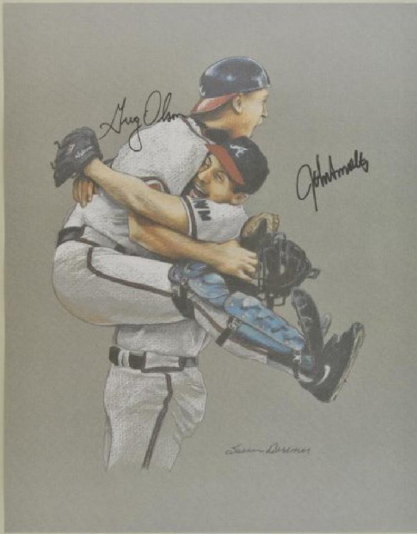 Signed Greg Olson & John Smoltz Print