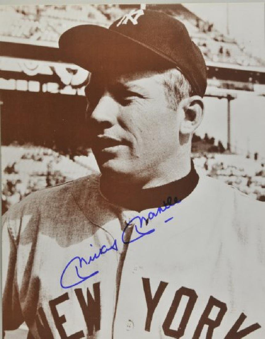 Signed Mickey Mantle Photo w/ Article