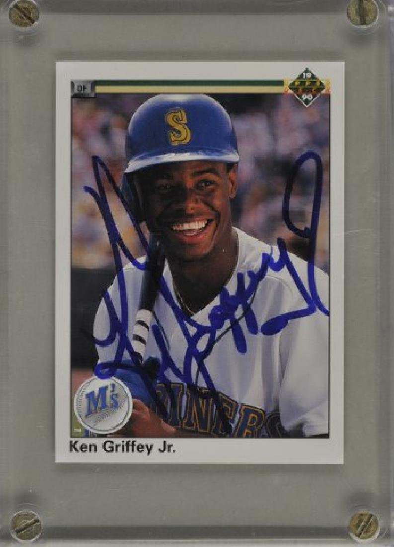 Signed Ken Griffey Jr. Baseball Card